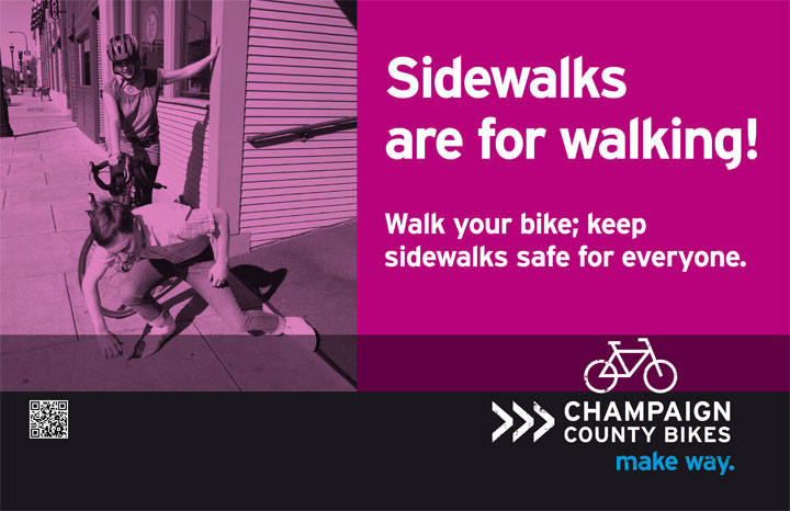 Sidewalks are for walking!
