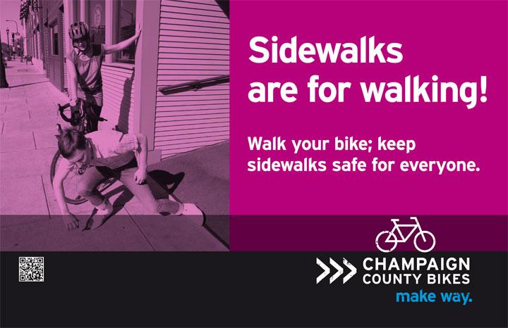 Sidewalks are for walking!