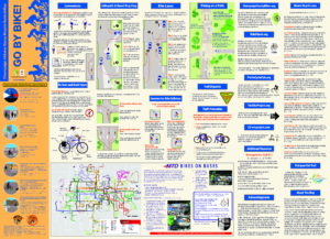 Champaign Urbana Savoy Bike Guide and Map - Back